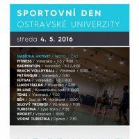 Leták - aktivity na Sportovní den OU