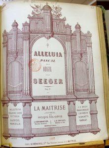 Francouzské vydání fugy Josefa Segera (1716–1782) zroku 1857
