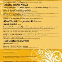 Plakát kcyklu koncertů Čtvero ročních období