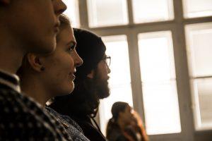 Zahraniční studenti na Inaguration Day OU.