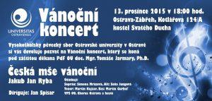 Oficiální pozvánka na koncert