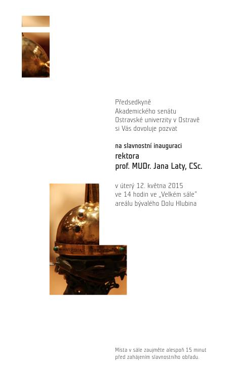 pozvanka_inaugurace rektora prof. Laty 2015